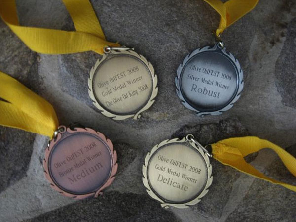 extra virgin olive oil award medals